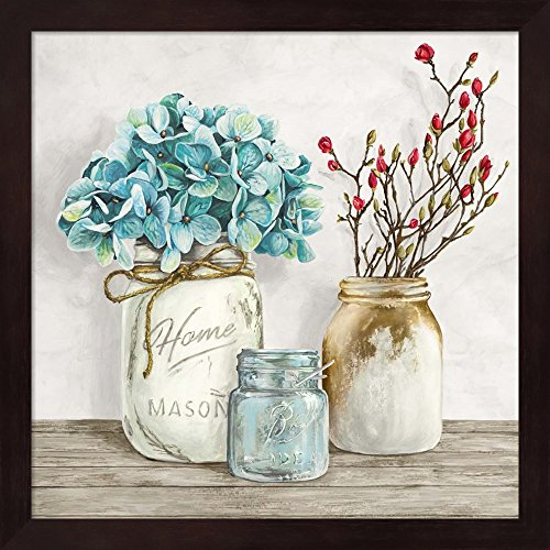 Great Art Now Floral Composition with Mason Jars I by Jenny