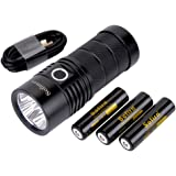 Sofirn SP36 Rechargeable Flashlight Powerful 6000 Lumen Brightest Torch Cree 4 XPL2 LED Professional Outdoor Search…