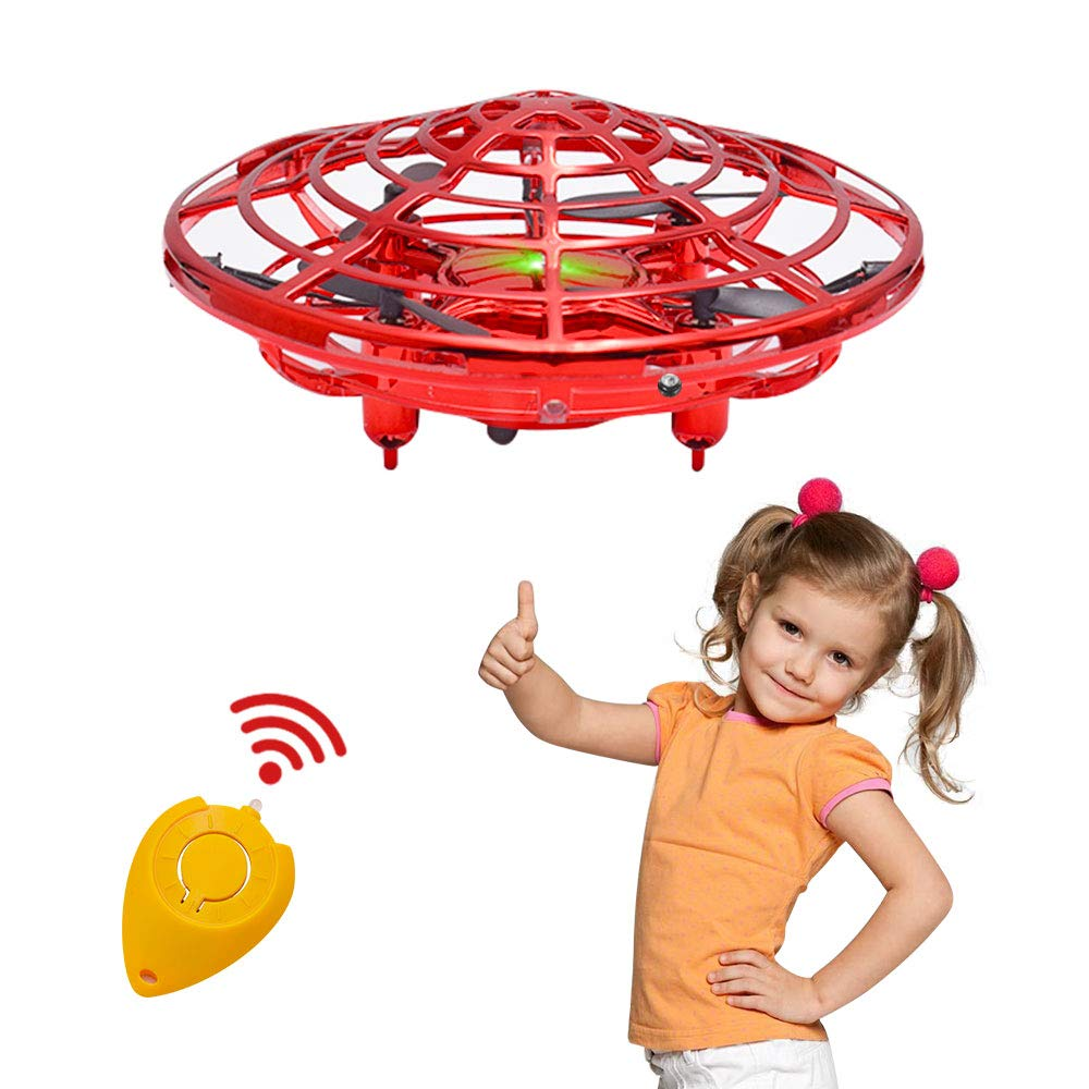 Hand Operated Drone for Kids or Adults, Toys for 4-5 year Old Boys, Latest Mini Drone Helicopter with 4 Sensors, Flying Ball Kids Toys for 6, 7, 8, 9, 10, 11 Year Old Boys or Girls Gifts (with Remote)