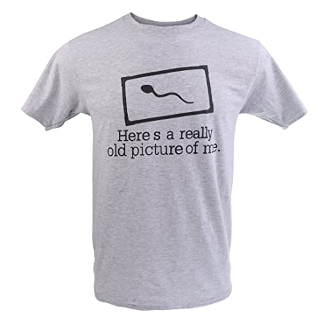 212ee176 Buy Segolike SloganT-shirt Tee Sperm HERE IS A REALLY OLD PICTURE OF ME Funny  T-shirt - M Online at Low Prices in India - Amazon.in