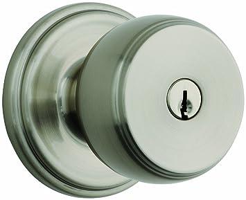 Brinks Push Pull Rotate Door Locks Ganyon Entry Door Knob, Satin Nickel,  23002