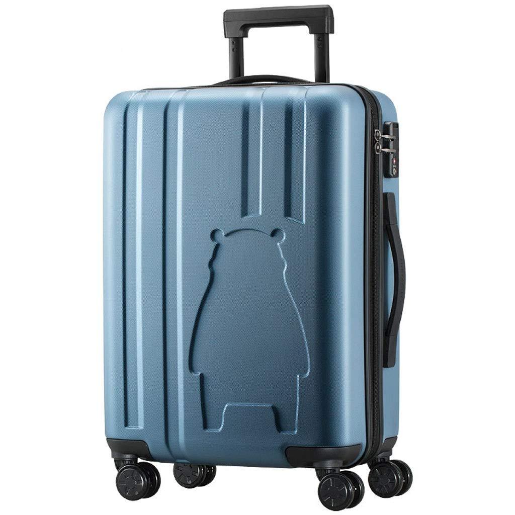 トロリーケース- ユニバーサルホイールPCアンチスクレーピングトロリーケース、男性と女性搭乗ジッパーロックボックスハードケース (Color : Blue, Size : 20in) B07VFDRDZV Blue 20in