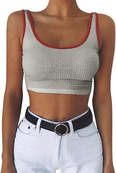 Womens Sheer Sleeveless Racerback Slim Fit Stretchy Vest Tee T-Shirt Crop Top