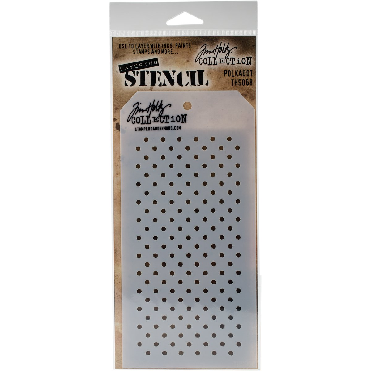 Stampers Anonymous/_agw Tim Holtz-Stencil Motivo Pizzo