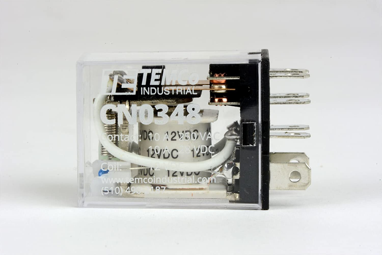 LY2 Format w//Socket 1x TEMCo Industrial Ice Cube Plug-in Relay General Purpose 12 VDC 10A Contact 8 Pin
