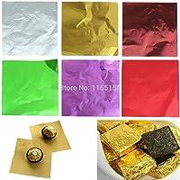 Royals Assorted Colour foil Wrappers for Chocolate, 8 x 9 cm, 300 Pieces (Plain/Printed)