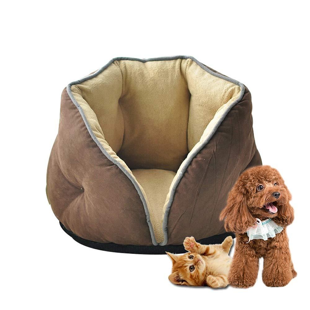 BROWN Pet Nest Pet Dog Roll Kennel Cat Mat (color   Brown)