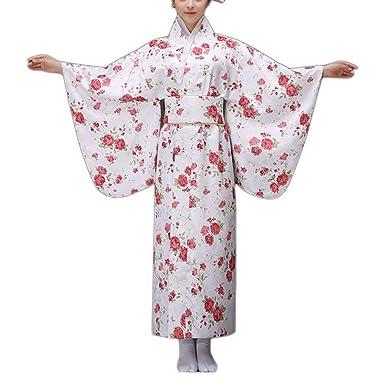 Mengonee Impresión Floral de Las Mujeres Muchacha del Kimono ...