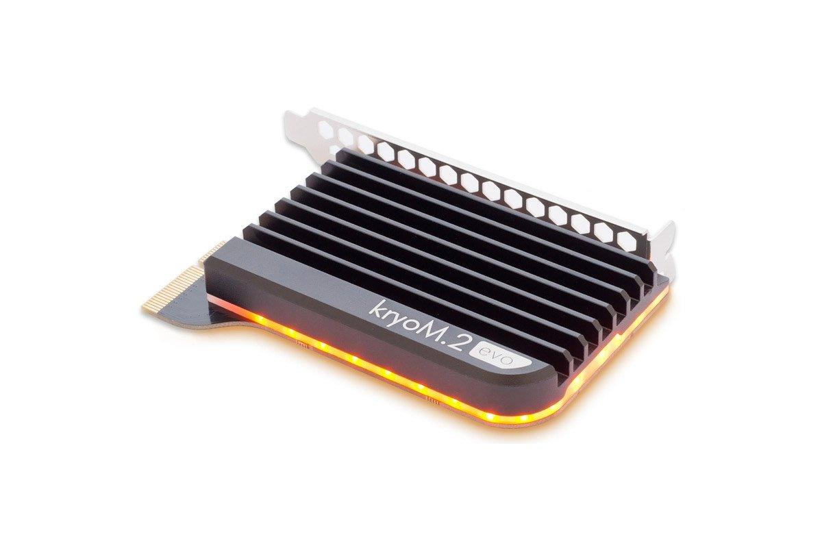 Aquacomputer kryoM.2 evo PCIe 3.0 x4 adapter for M.2 NGFF PCIe SSD, M-Key with passive heatsink by Aquacomputer (Image #5)