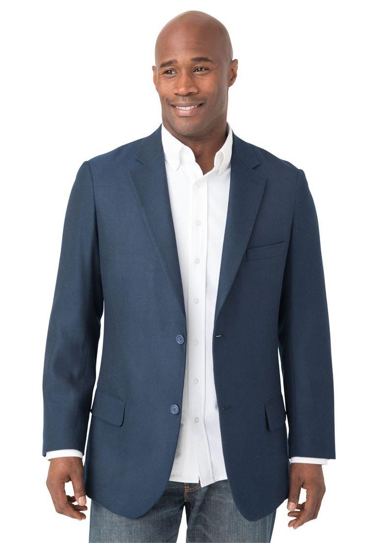 Liberty Blues Men's Big & Tall Casual Blazer, Blue Tall-58