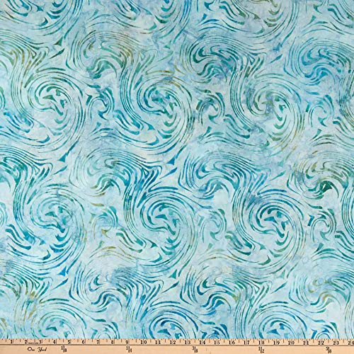 Kaufman Artisan Batiks Aqua Spa 3 Swirl Water Fabric by the Yard