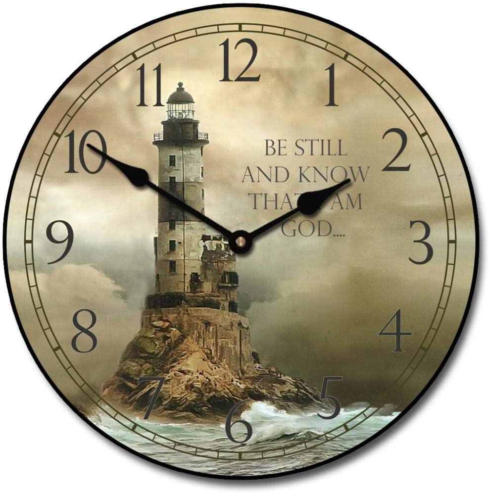 Lighthouse 112 Wall Clock, Available in 112 Sizes, Most Sizes Ship 112   12 Days,
