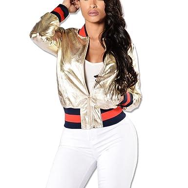 YYF - Chaqueta de traje - chaqueta - para mujer dorado dorado ...