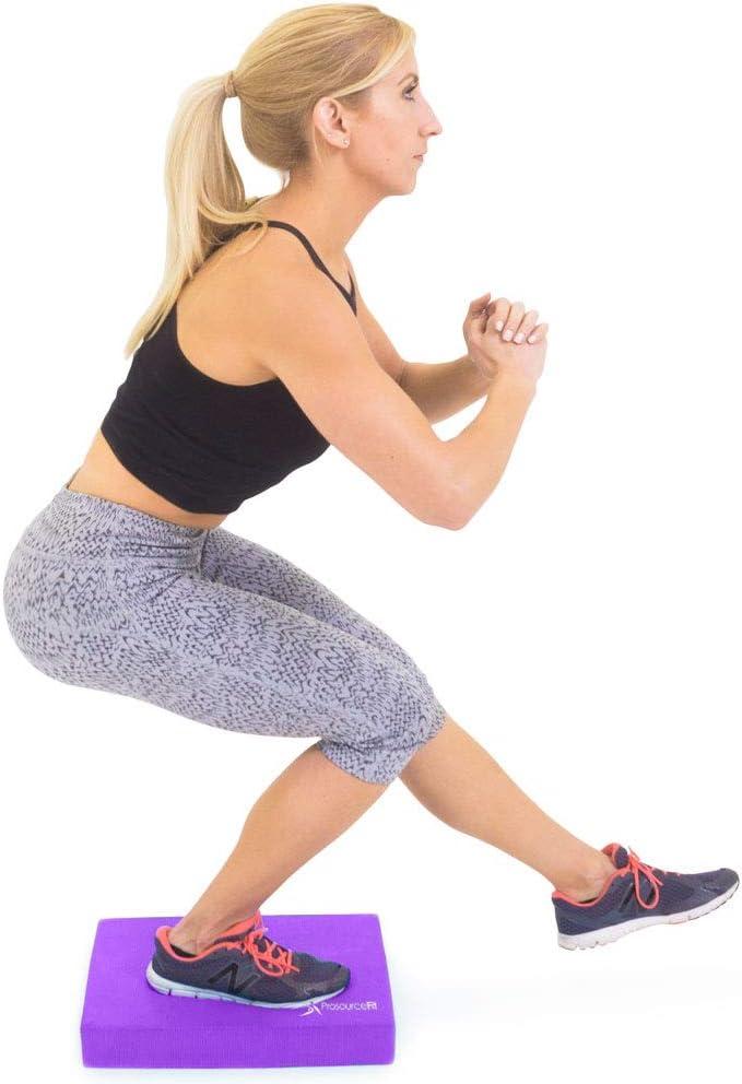 Exercise Balance Pad 15x19 Non-Slip Cushioned Foam Mat /& Knee Pad