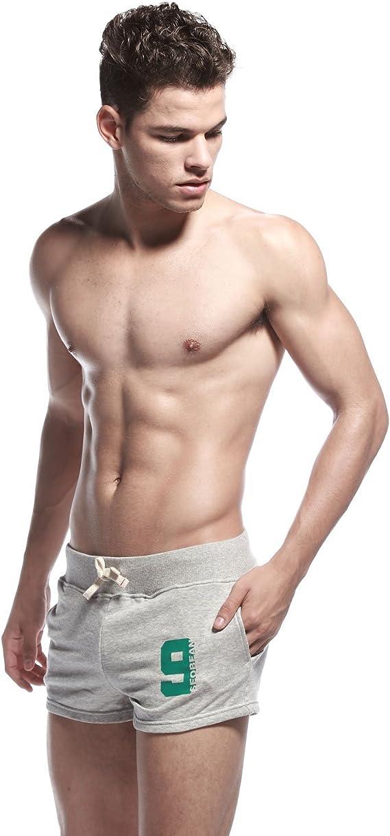 de talla L 34-36 Pantal/ón corto de color para hombre deportivo SEOBEAN