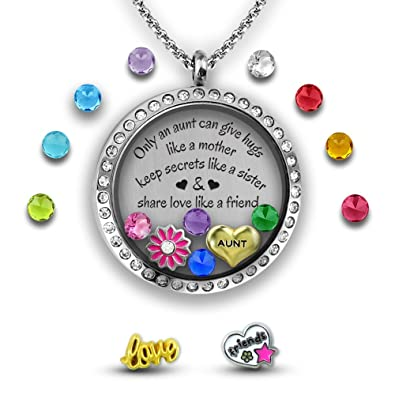 Amazon my aunt gift from niece i love my aunt charm my aunt gift from niece i love my aunt charm necklace diy jewelry set mozeypictures Images