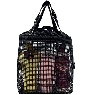 Quick Dry Mesh Shower Caddy, Shower Tote, Shower Bag, Black, For Travel