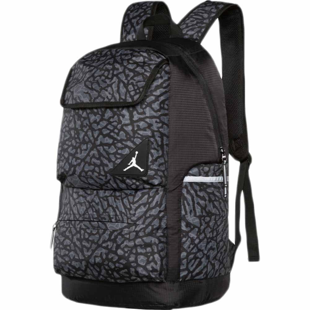 Jordan Youth Boys Playoff Backpack Black/Grey