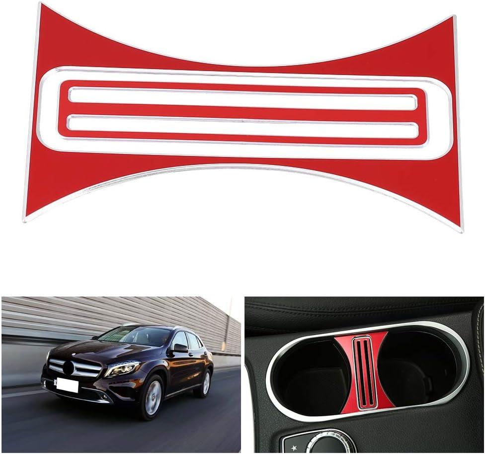 SH-RuiDu Direct Store Garniture de Couvercle de Support de Gobelet Deau de Console Centrale pour Mercedes-Benz Classe A//CLA//GLA 2013-2017 Rouge