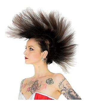 Horror-Shop Iroquois marrón peluca punk