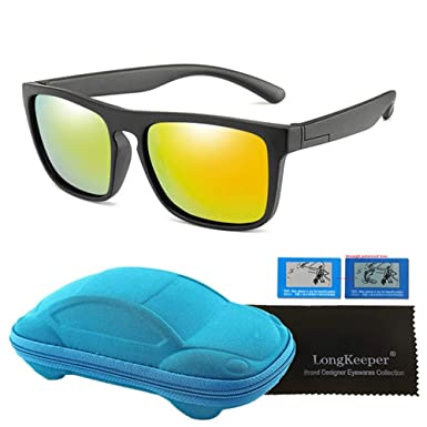 Wang-RX Gafas de sol cuadradas polarizadas para niños ...