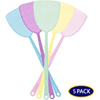 PAL&SAM Fly Swatter, Strong Flexible Manual Swat Set, Assorted Colors (5 Pack)