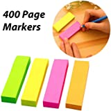 Aptitude Fluorescent Sticky Note for Page Marker (Assorted Colours) , 4 Sets of 400 Pieces