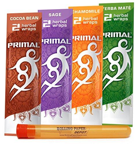 Primal Wraps (Non-Tobacco and Nicotine FREE) Herbal Smoking Wraps -
