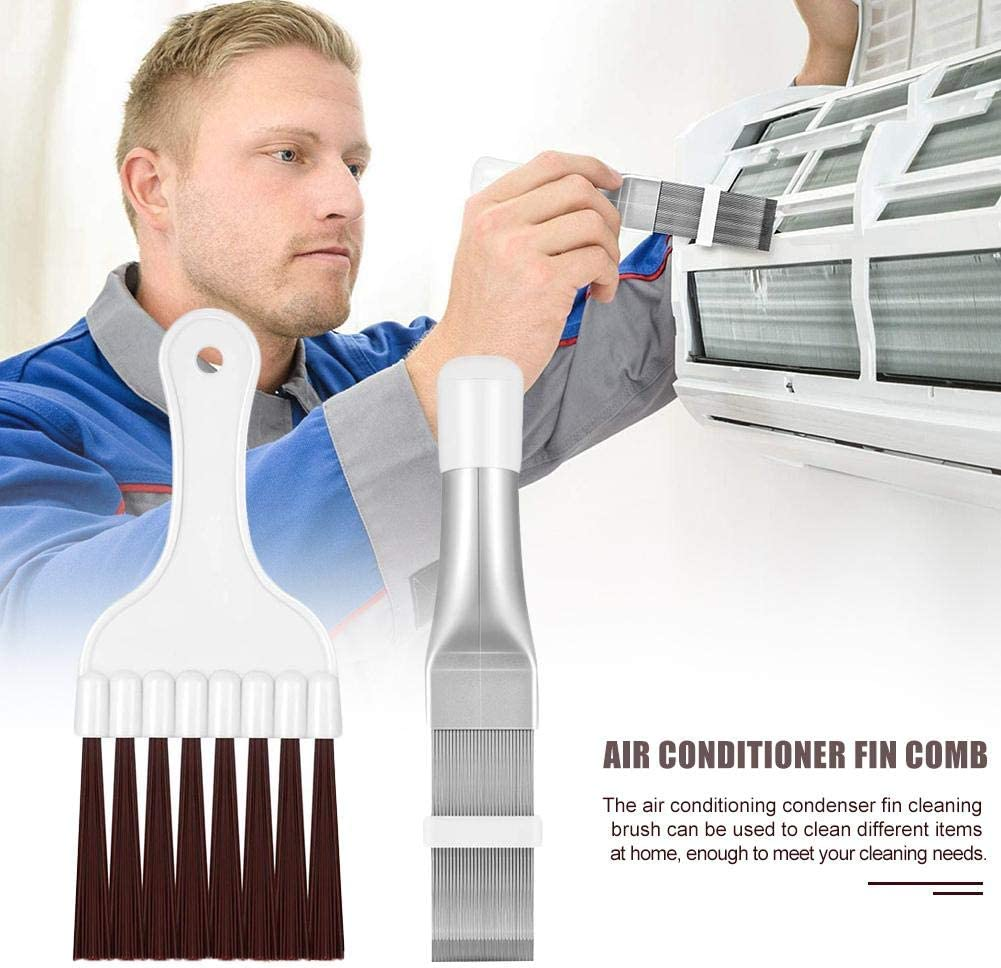 Fin Comb Air Conditioner Fin Comb Cleaning Brush for The Condenser Fins Air Conditioner Steel Air Conditioner Fin Cleaner Cost Saving Air Conditioner Fin Cleaning Tools