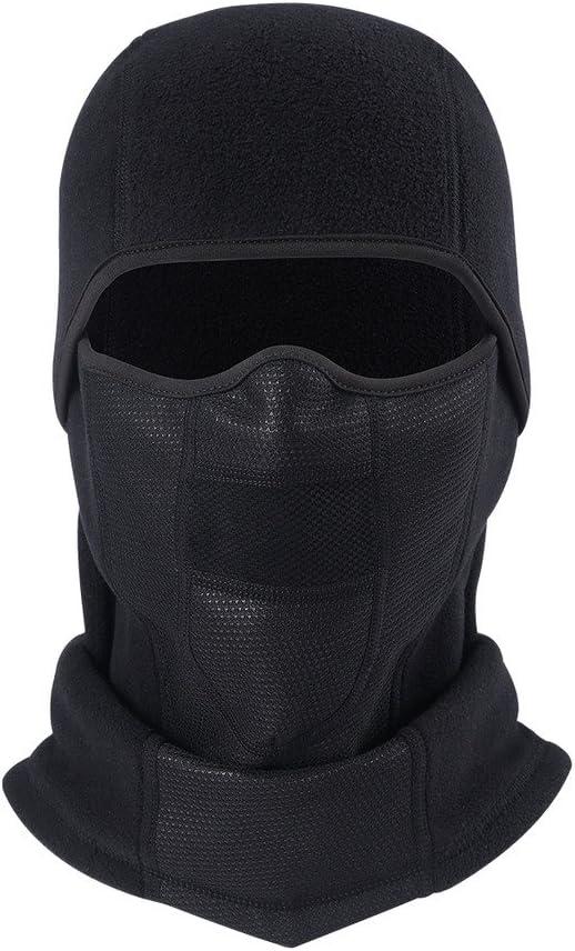 Arcweg Half Face Mask Neck Warmer Motorcycle Balaclava Black