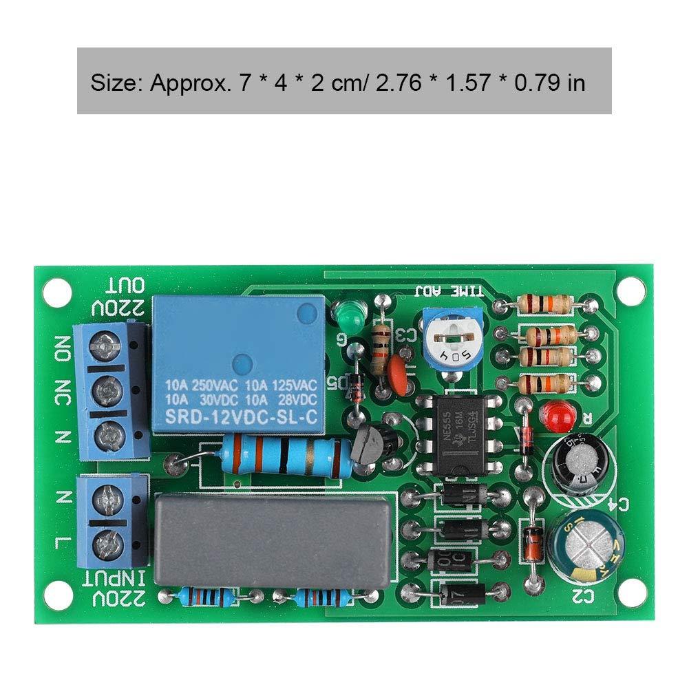 f/ácil instalaci/ón Retardo de Entrada//Salida Apagado etc Peso Ligero m/ódulo de Interruptor 7 * 4 * 2 cm Hakeeta M/ódulo de rel/é 220V para Interruptor de Pasillo Luz de Escalera port/átil