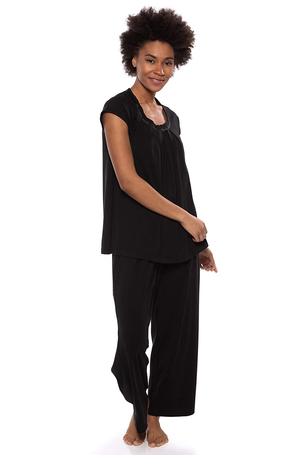230a2f9cf4 Women s Pajamas in Bamboo Viscose (Bamboo Bliss) Cozy Sleepwear Set by  Texere