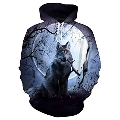 9Yourtime Your Love Night Wolf Hoodie Print Husky Sweatshirt Harajuku Hip Hop Tops Hoody