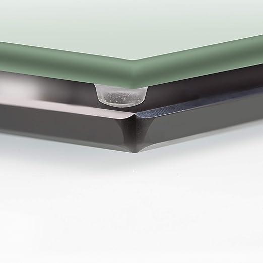 AMZ Decor Tabla de Corte Universal/Tapa de Cocina, Fabricada en Vidrio Blanco, 60 x 52 x 0,4 cm.