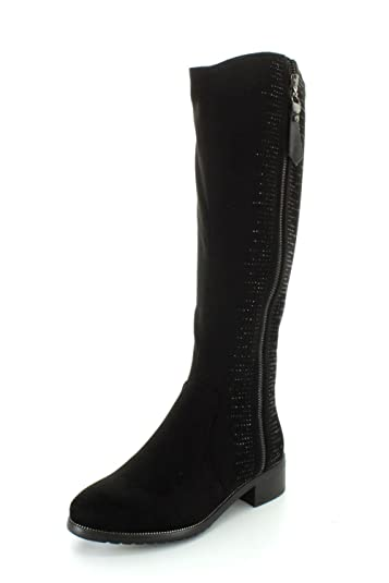 Azura by Spring Step Women's Blackenbury Riding Boot, Black, 35 EU/5 M