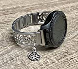 Best Samsung Of The Bangles - Brushed Silver Metal Bracelet For Samsung Gear S3 Review
