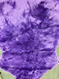 WPM Deluxe Soft Faux Sheepskin Chair Cover Seat Pad Shaggy Area Rugs For Bedroom Sofa Floor (5ft x 7ft, Purple)