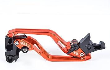Tencasi Orange Cnc Lang Rhombus Hohl Bremshebel Kupplungshebel Set Für Yamaha Fjr 1300 2004 2018 Xjr 1300 Racer 2004 2016 Auto