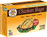 reynolds large oven bags - True Liberty Bags Chicken 10 Pack, All Purpose Home and Garden Bags, Clear