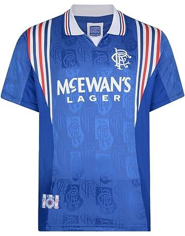 92135a127 Official Retro Rangers 1998 Retro Football Shirt 100% POLYESTER