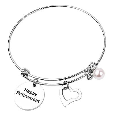 Ensianth Retirement Gift Happiness is Retirement bracelet Retirement Bangle Jewelry 358Fc
