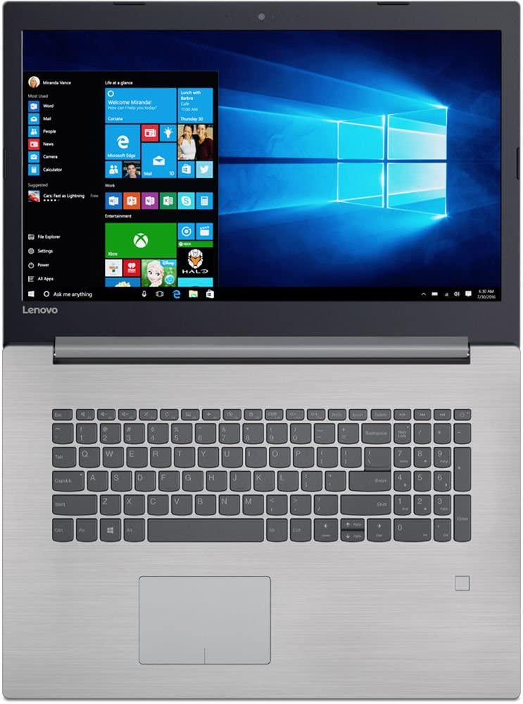 "Lenovo 17.3"" 320 Series Business Laptop, Intel Core i5-7200U 2.5 Ghz, 512GB SSD, 8GB DDR4, DVD+RW, 802.11ac Wi-Fi, Bluetooth 4.1, HDMI, USB C, Ethernet, Dolby Audio, Card Reader, Win 10"