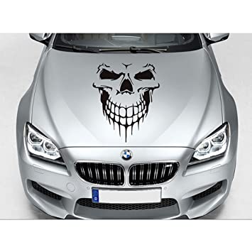 Skull graphic car hood decal car body decalvylymuses auto window sticker decal motorcycle decorations