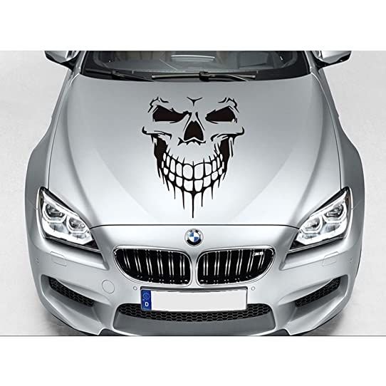 Halloween Skull Graphic Car Hood Decal Car Body Decal Vylymuses - Rear window decals for trucks canada