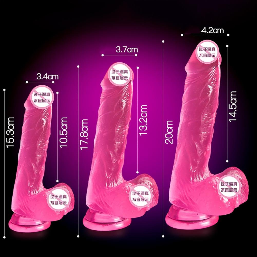 Vibradores Para Mujer Vagina Consolador Pene de TPE SimulacióN , MasturbacióN Femenina , Materiales TPE de , Impermeable Doble Juguetes De EstimulacióN JMung , pink , L 8ed5f1