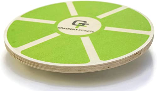 Gradient Fitness Balance Board, Wooden Wobble Board, Circular Non-Slip Physical Therapy Exercise Tool
