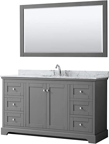 Wyndham Collection Avery 60 Inch Single Bathroom Vanity