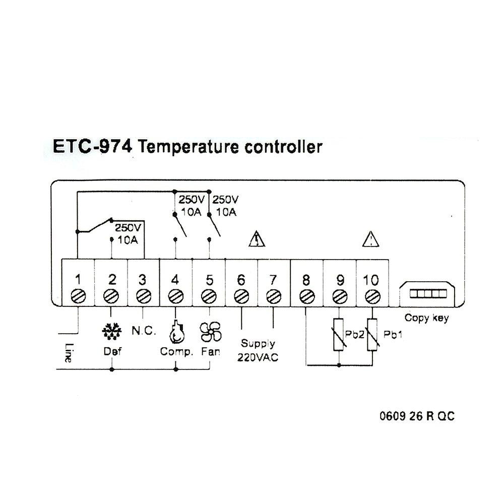 Controlador de temperatura, risepro termostato Digital ...