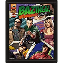 Posters: The Big Bang Theory 3D-Posters (framed) - Comic Bazinga (10 x 8 inches)