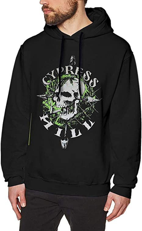 Imagen deDFGDG Mens Sweatshirt Cypress Hill Fashion Sweatshirtst Black for Mans Classic Hooded Sweatshirt